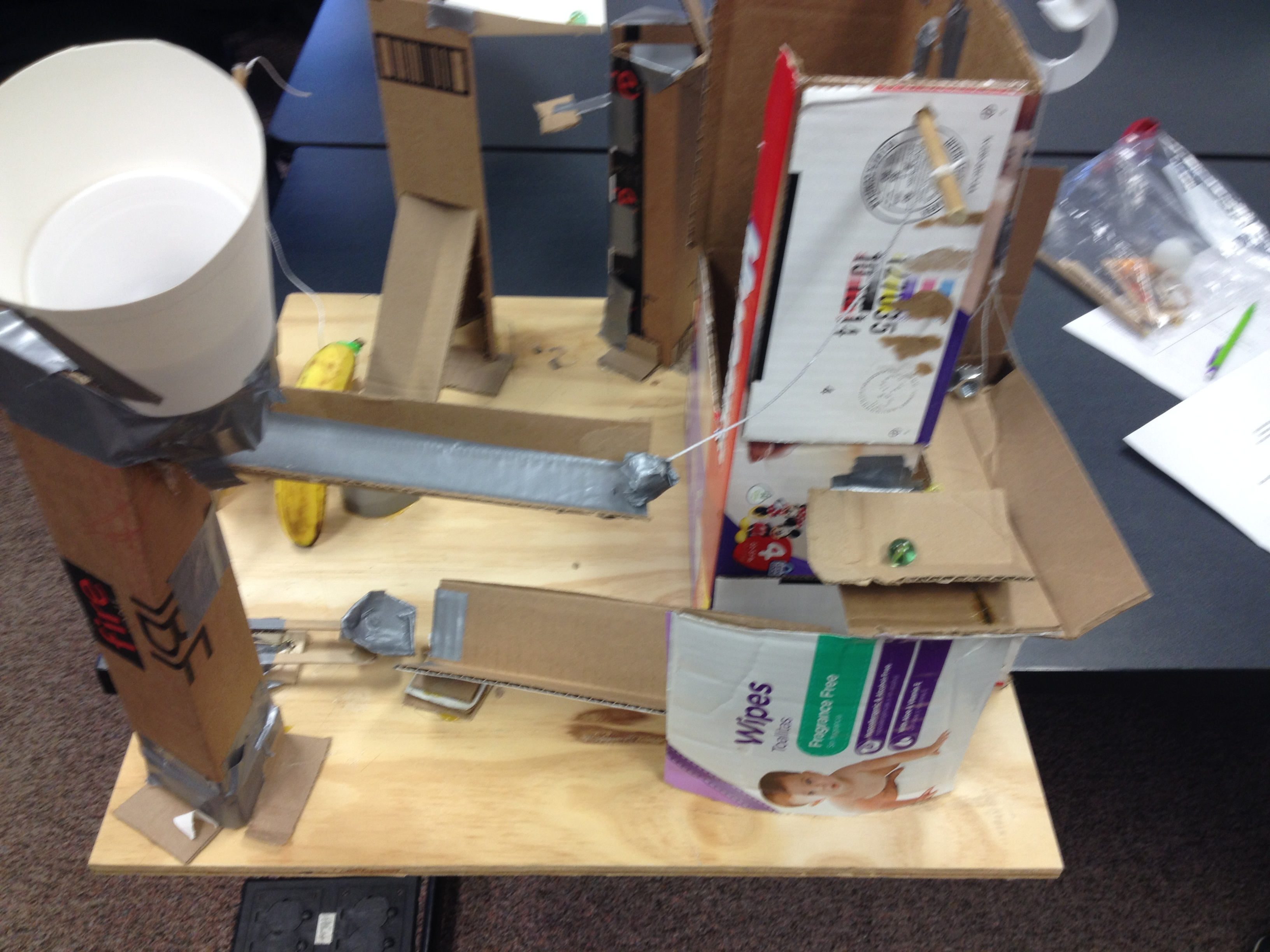 rube goldberg device group project This is for school we have to make a simple machine project my group  rube goldberg machine, lighting a candle  rube goldberg device.